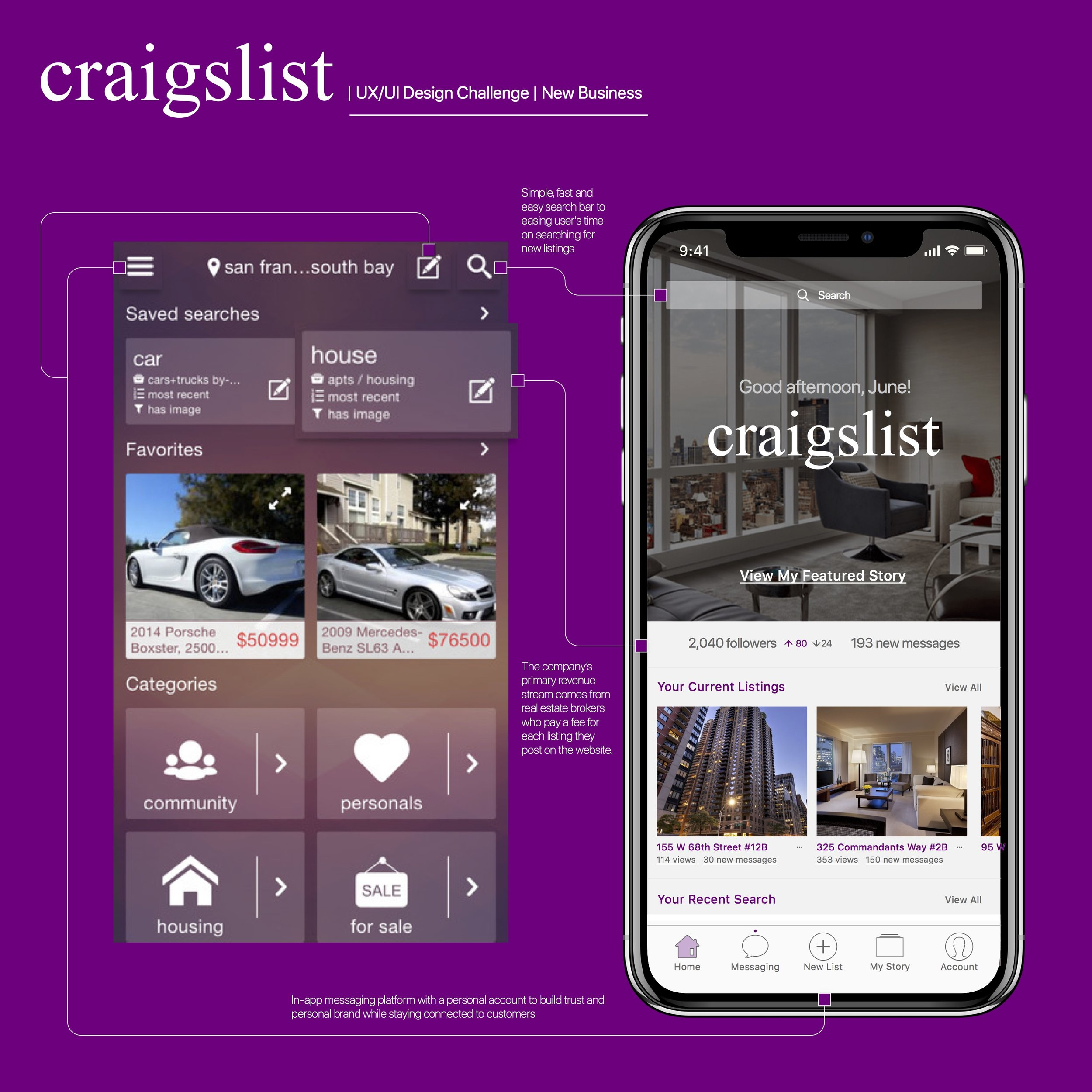 How might we reposition Craigslist as a leading trustful platform for both real estate agents and homebuyers?  View more detailed process