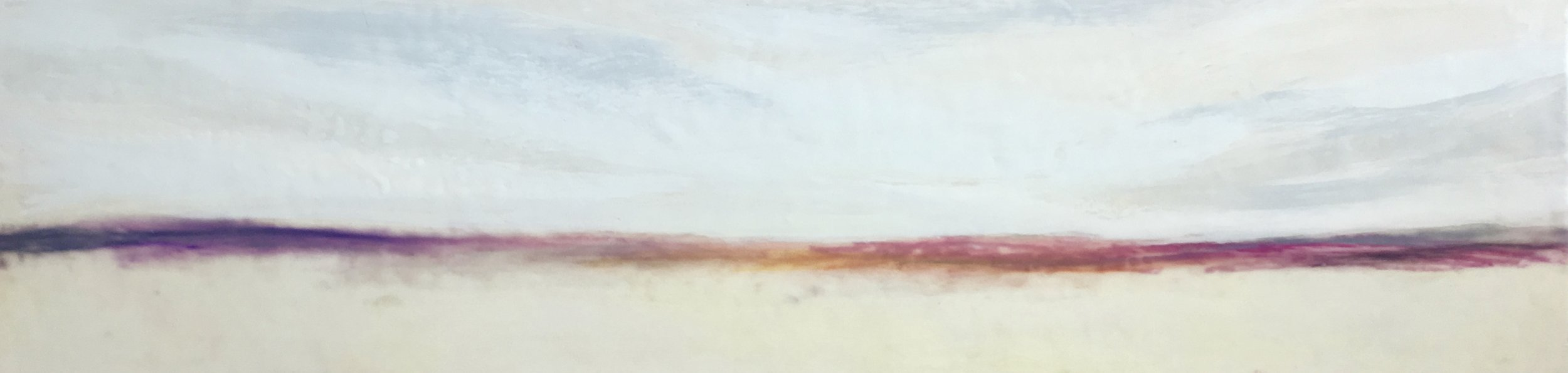 "2018  Encaustic on cradled board  12"" X 48"""