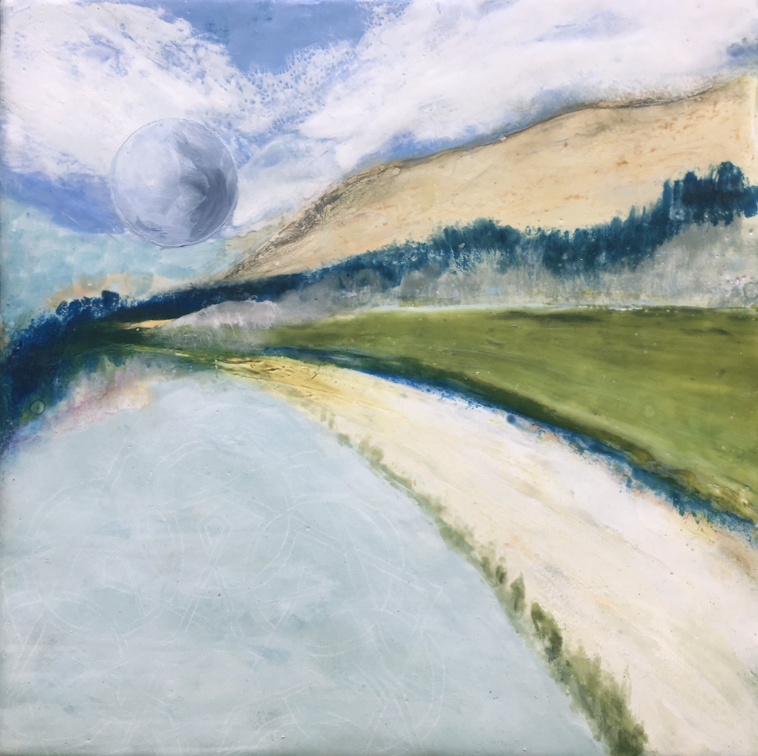 "2018  Encaustic on board - framed  12"" X 12"""
