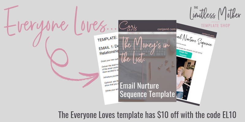 The Money's in the List: Email Nurture Sequence Template