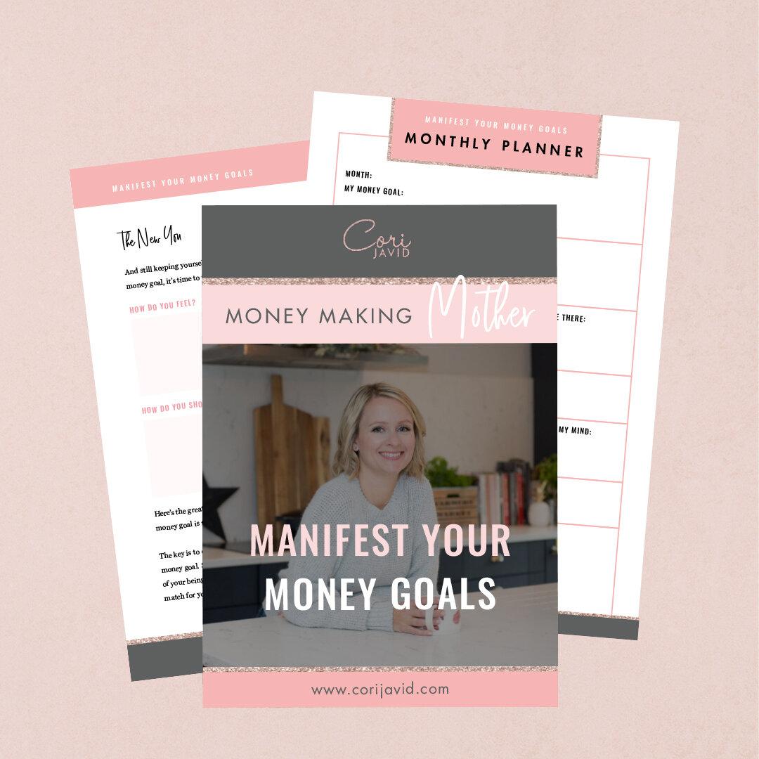 Manifest Your Money Goals Template Cori Javid
