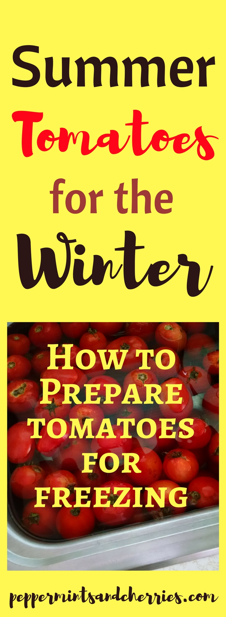 How to Prepare Tomatoes for Freezing