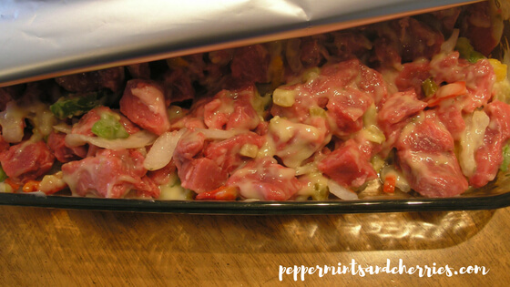 Beef Tips and Broccoli for an Easy Weeknight Dinner & Favorite Family Recipes Blog Hop _ Peppermints and Cherries