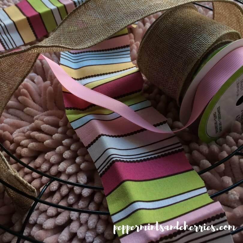 Burlap Ribbon and Fabric Scraps