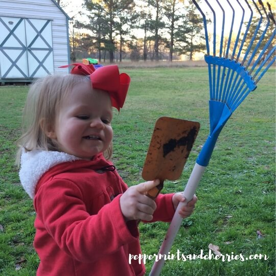 Spring Gardening with a Toddler