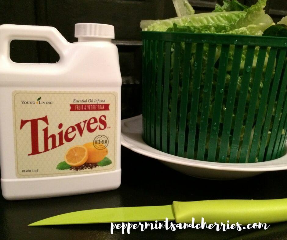 Using Thieves Fruit and Veggie Soak to Wash Produce