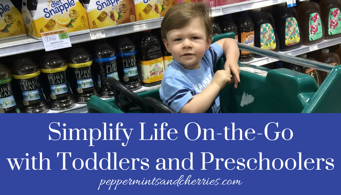 Simplify Life On-the-Go with Toddlers and Preschoolers