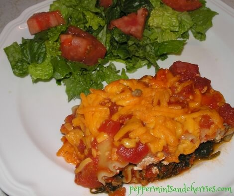 Meat, Spinach, and Zucchini Lasagna Recipe