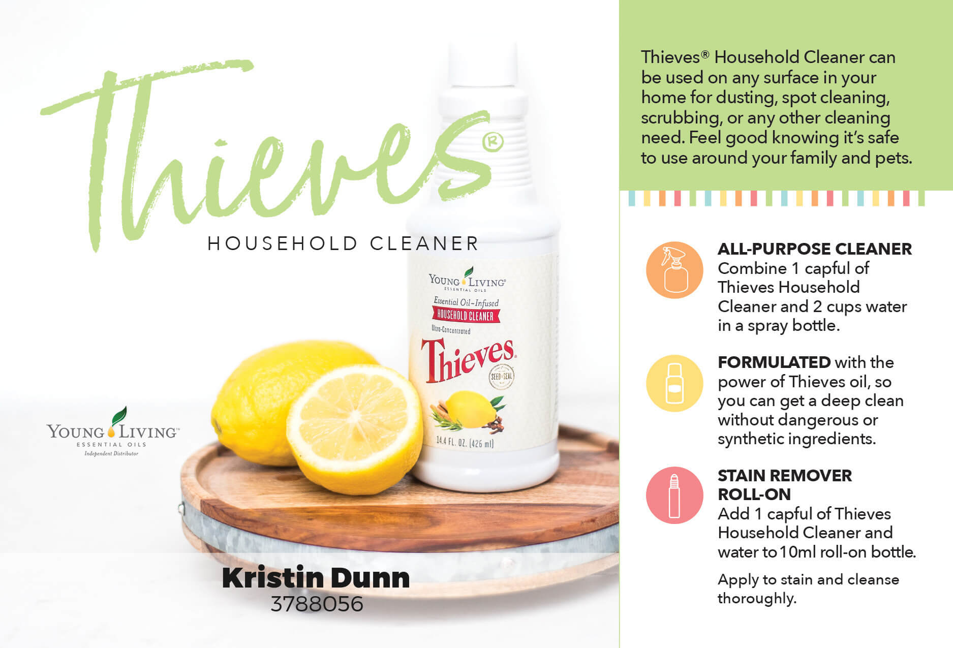 Uses for Young Living's Thieves Household Cleaner