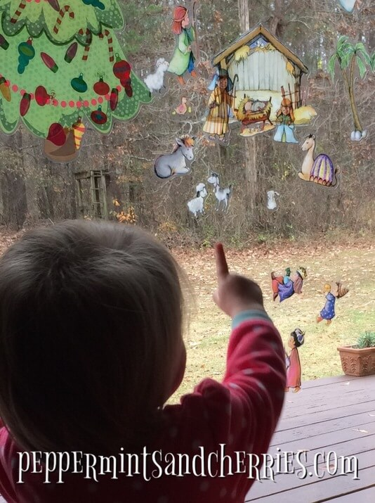 Decorate with Window Clings as a Christmas Tradition for Children