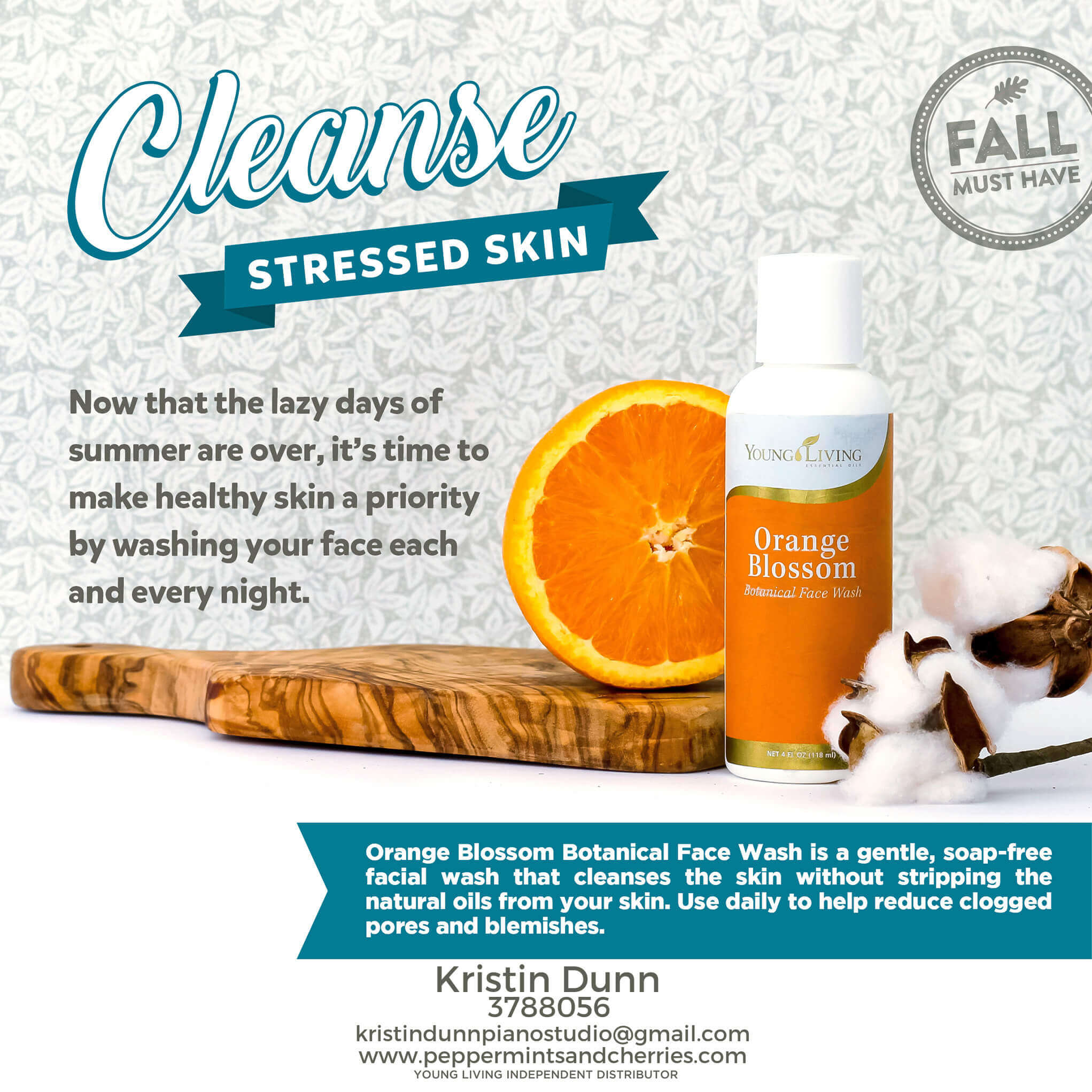 Cleanse Stressed Skin with Young Living's Orange Blossom Face Wash