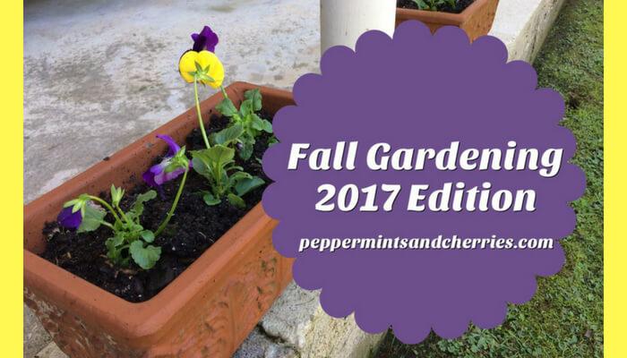 Fall Gardening 2017 Edition
