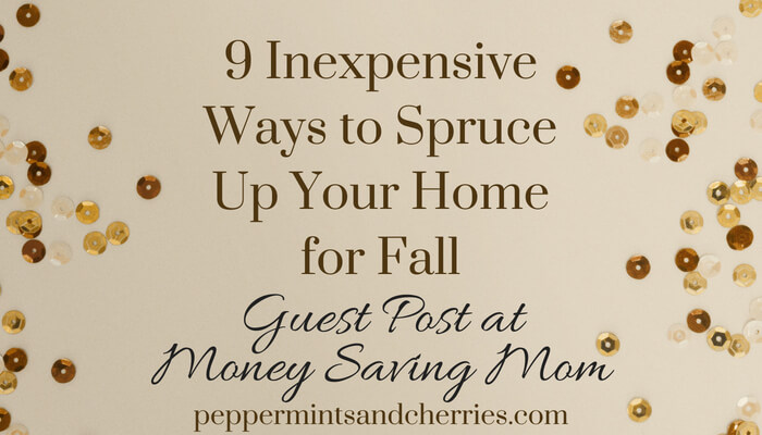 Guest Post at Money Saving Mom Featuring 9 Inexpensive Ways to Spruce Up Your Home for Fall