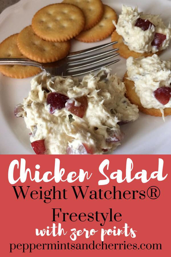 Weight Watchers® Freestyle Chicken Salad with Zero Points www.peppermintsandcherries.com