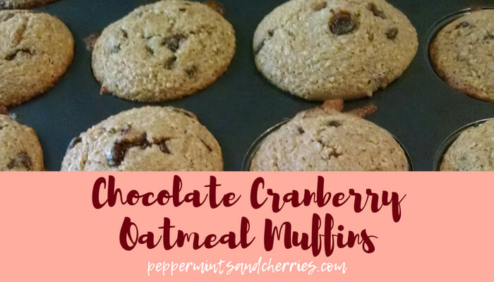 Christmas Thoughts and Chocolate Cranberry Oatmeal Muffins
