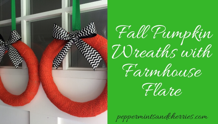 How to Make Fall Pumpkin Wreaths with Farmhouse Flare
