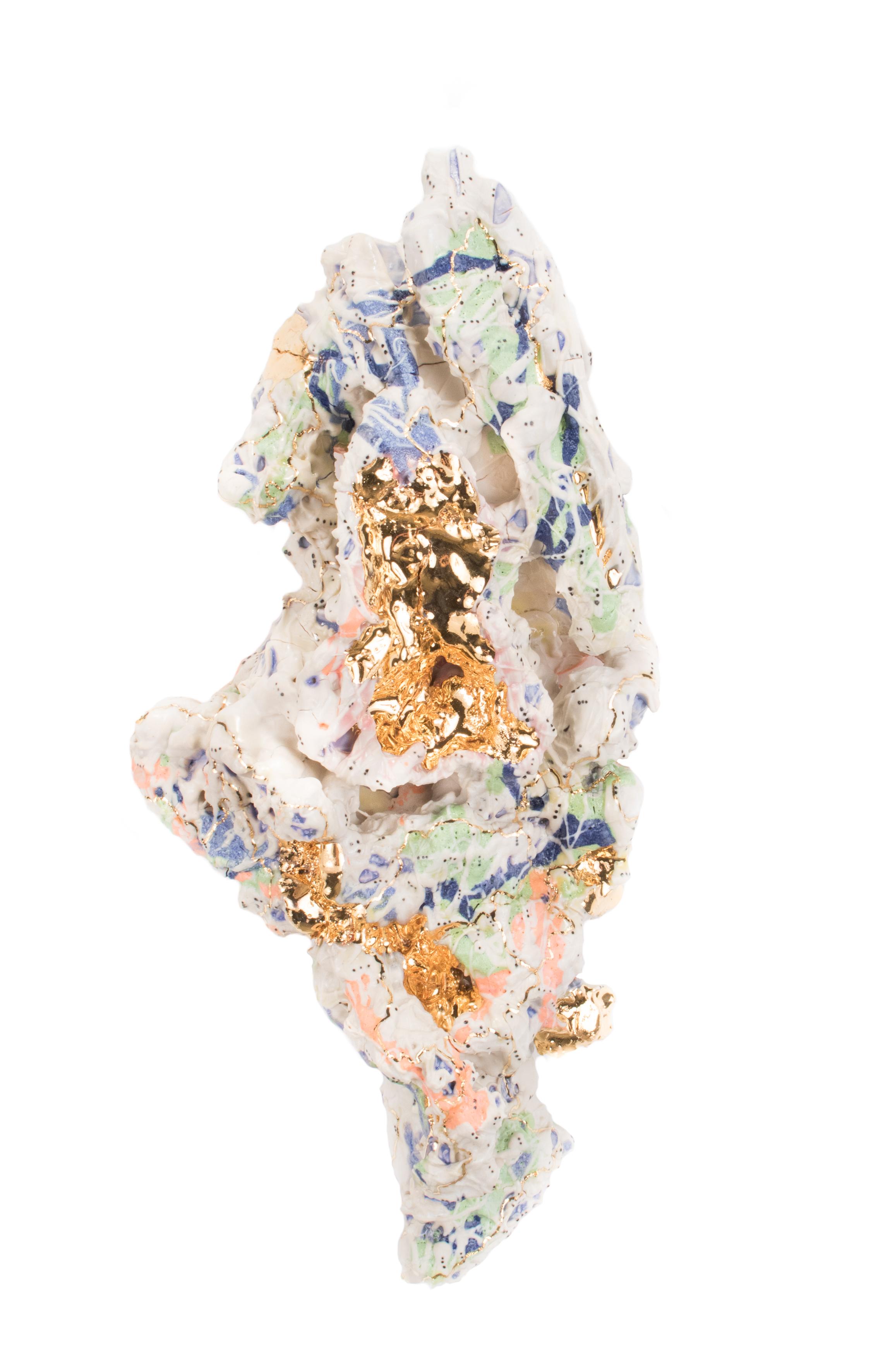 Assemblage 145. 2017  Ceramic, Gold Luster  20.5 x 13 x 40.5 cm