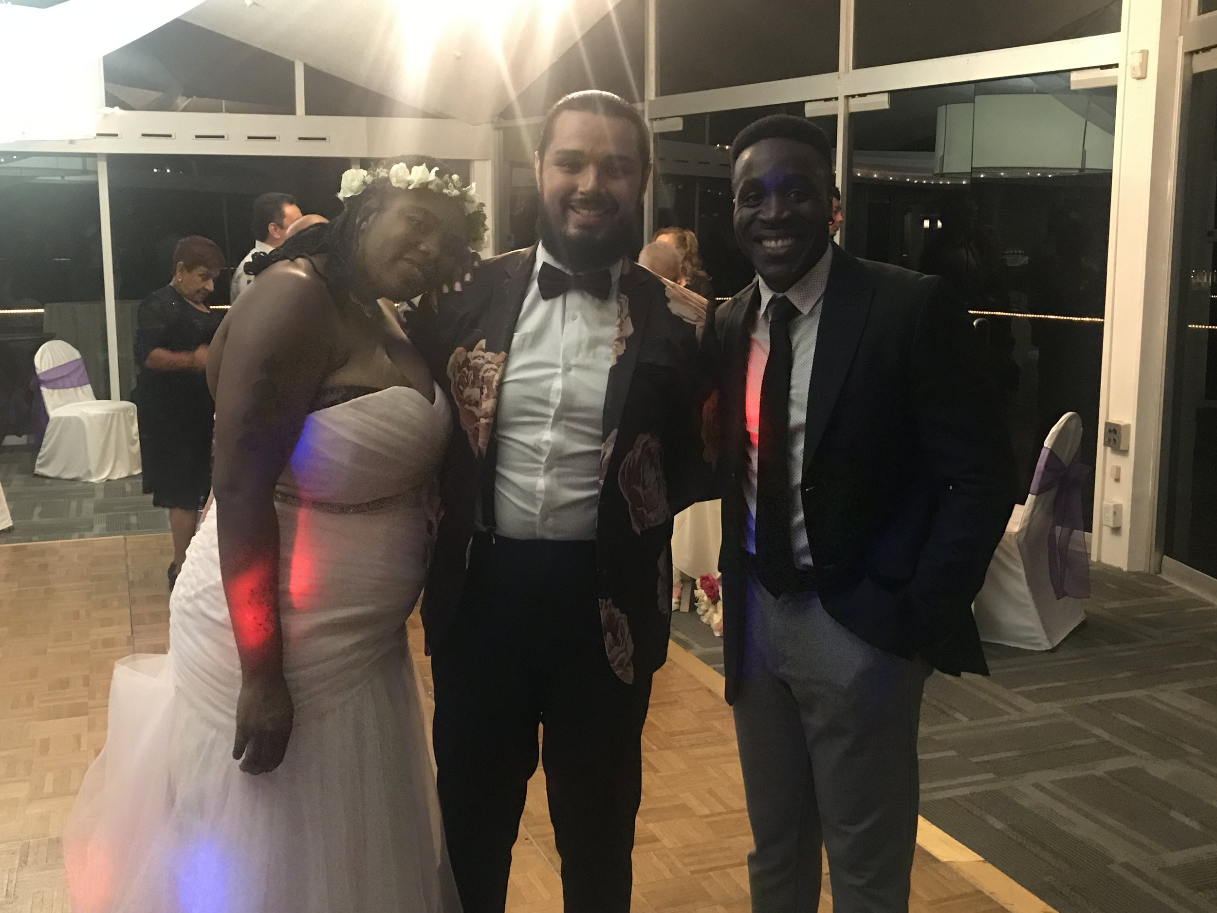 Jamela & Eli - DJ Chuck was a perfect additional for our wedding. He was very attentive with all of my husband and I needs. During the wedding, he played all the hits with such a good mix. Our guest didn't want him to leave. He is affordable and great value.
