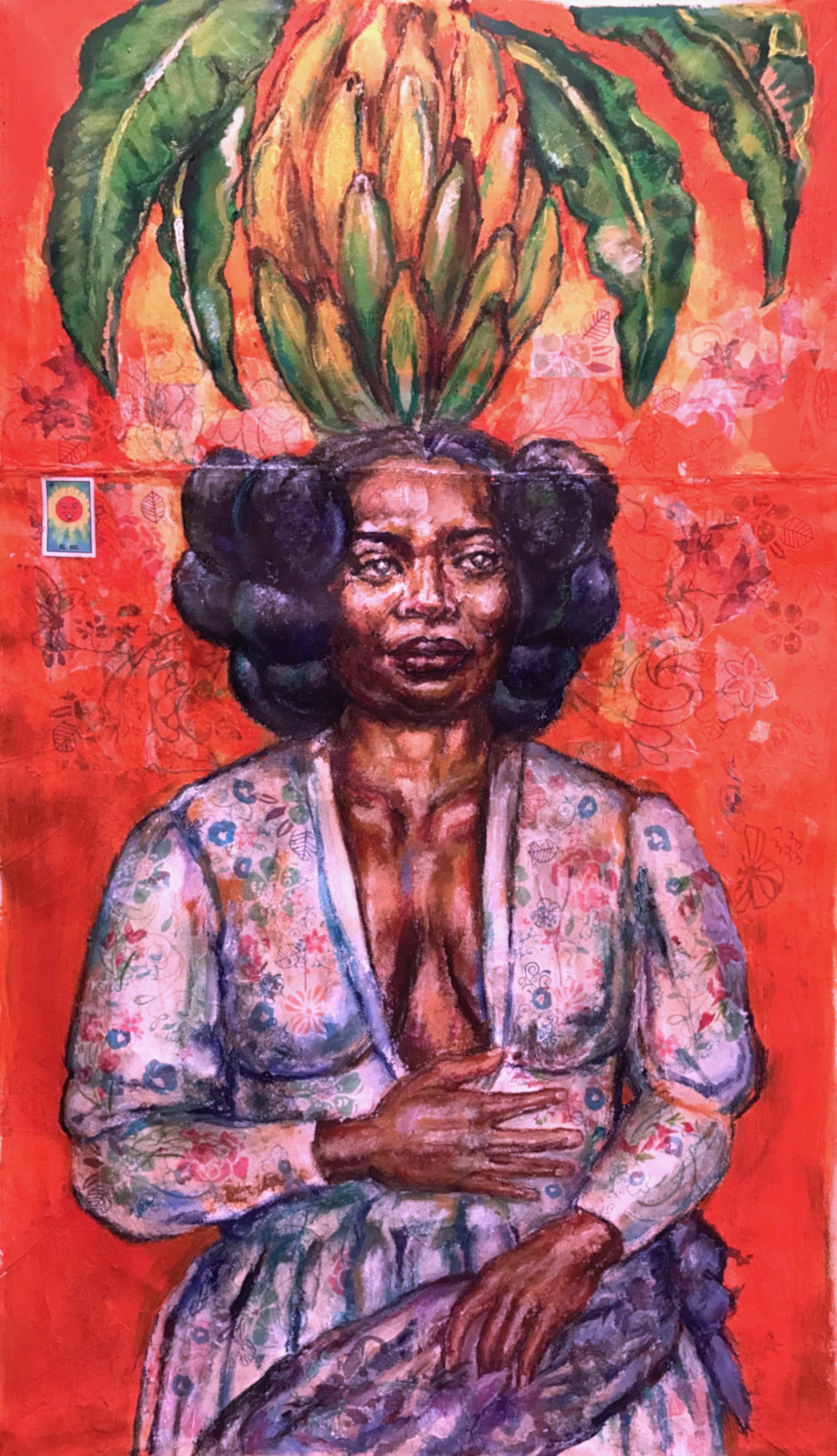 """""""Gaia, El Sol. The Orange Lady"""", 2018"""