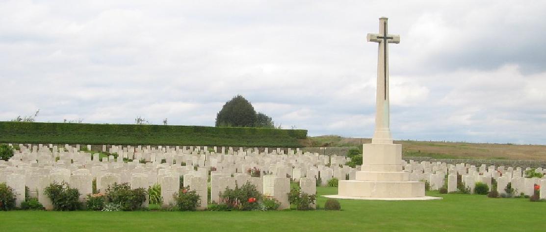 Bienvillers Military Cemetery, Pas de Calais, France