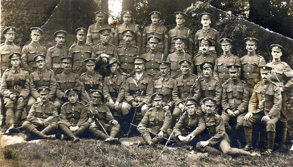 Edward Kibble, 3rd row back, 3rd from right, 27 September 1917
