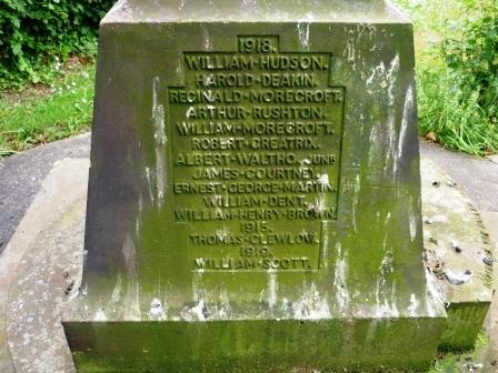 1917          FREDERICK JOHNSON         WILLIAM MARKLEW           HARRY COOPER            JOHN ALDRITT            FRANK DAFT        ALBERT WALTHO SNr     ELLIS ROWLAND RICHARDS        REGINALD HY BACON       JOSEPH EDWIN CARTHY           WILLIAM HILEY           ALBERT STEELE           ALFRED SMITH         LESLIE LAWRENCE          JOSEPH SIMPSON          HORACE VERNON