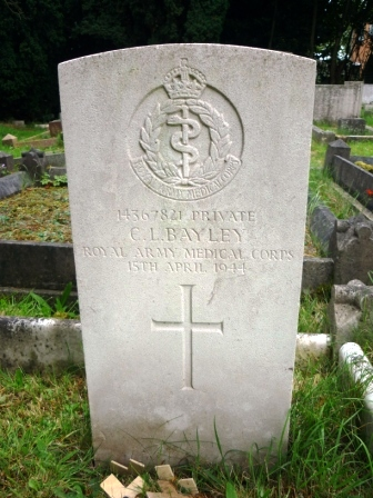 14367821 PRIVATE              C. L. BAYLEY      ROYAL ARMY MEDICAL CORPS            15TH APRIL 1944    †