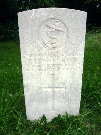 BZ/3659 ABLE SEAMAN        E. BEDDOW RNVR     DRAKE BATTN R N D      28TH JANUARY 1919                AGE 28                      †      THY WILL BE DONE