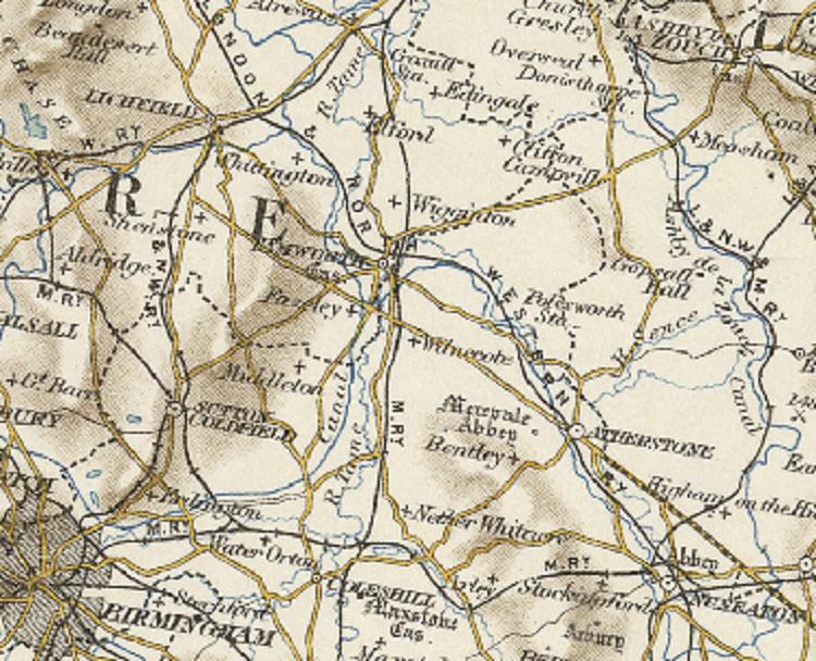 Map of Wilnecote