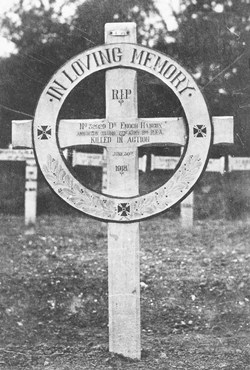 Photograph of Enoch HANCOX original grave marker