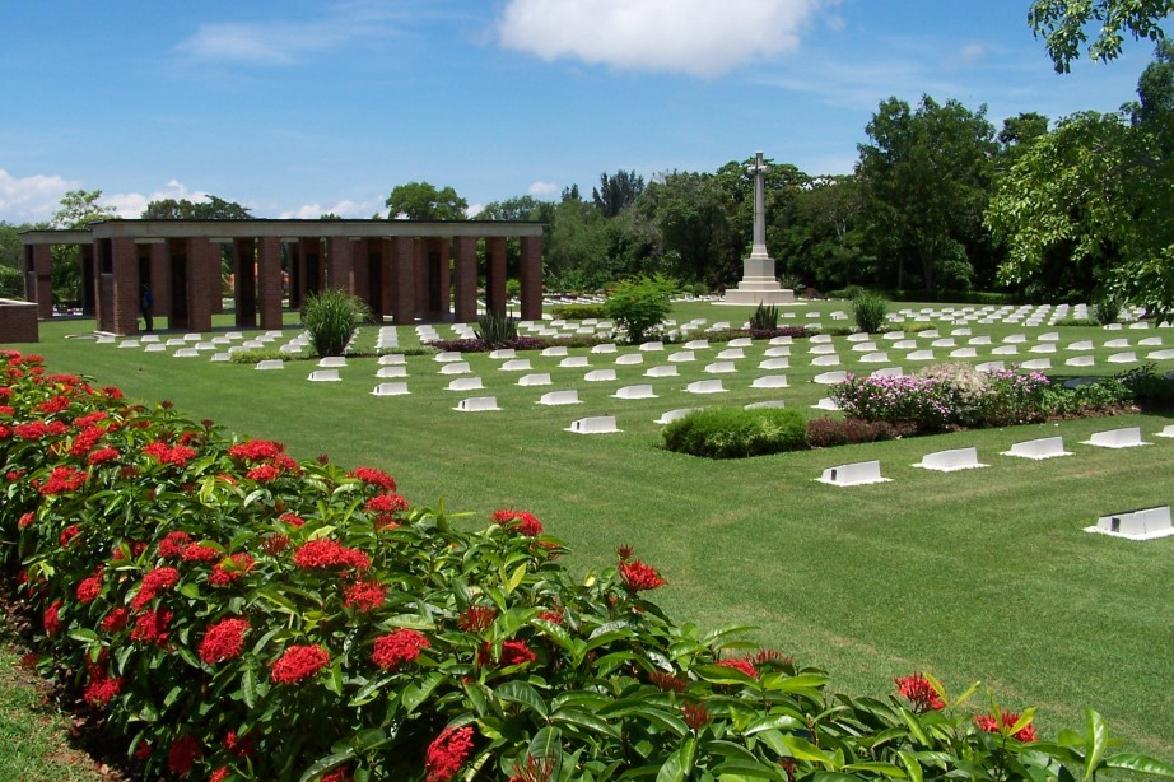 Labuan War Cemetery on the island of Labuan in Malaysia.
