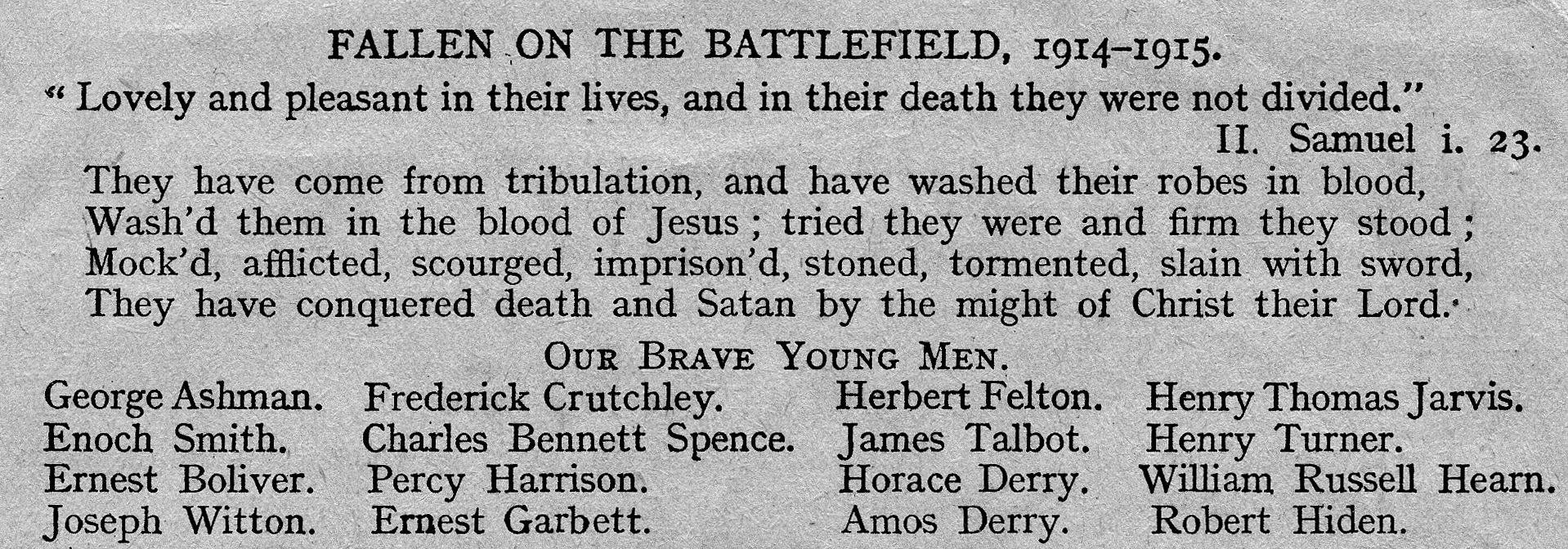 Burntwood Parish Magazine - Feb 1917
