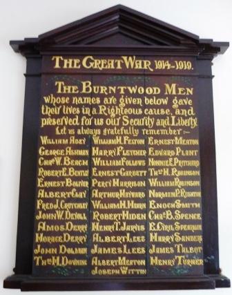 Burntwood Institute Memorial Plaque