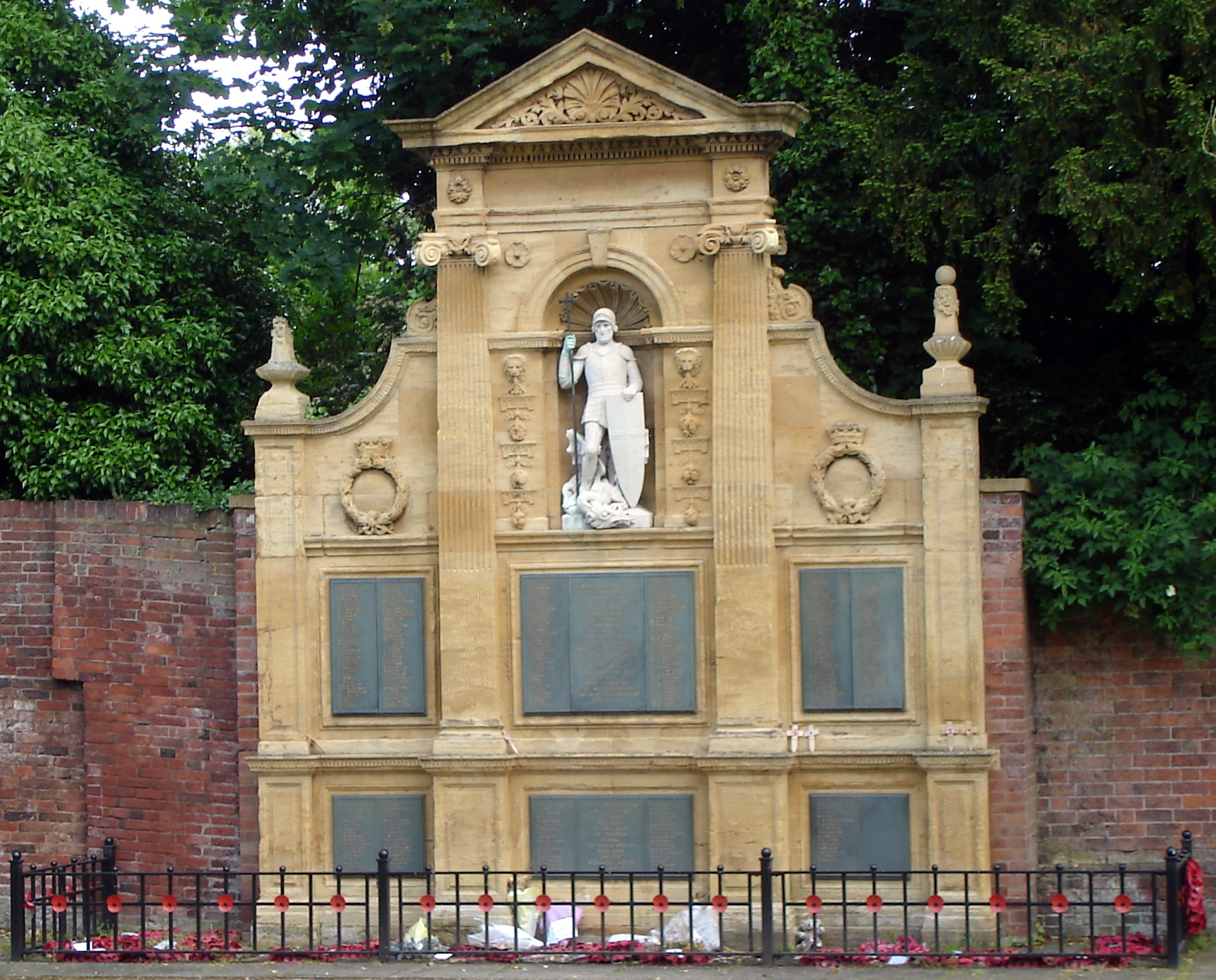 Lichfield Remembrance Garden War Memorial.