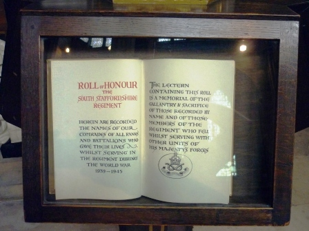 South Staffordshire Regiment Roll of Honour