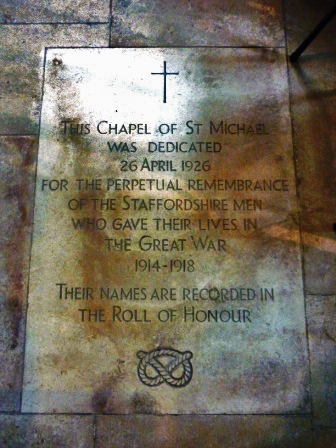 South Staffordshire Regiment Memorial Stone