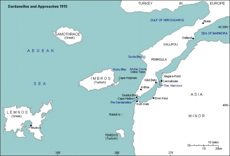 Dardanelles and approaches 1915