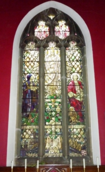 the stained glass window at the Church of St James the Great, Norton Canes