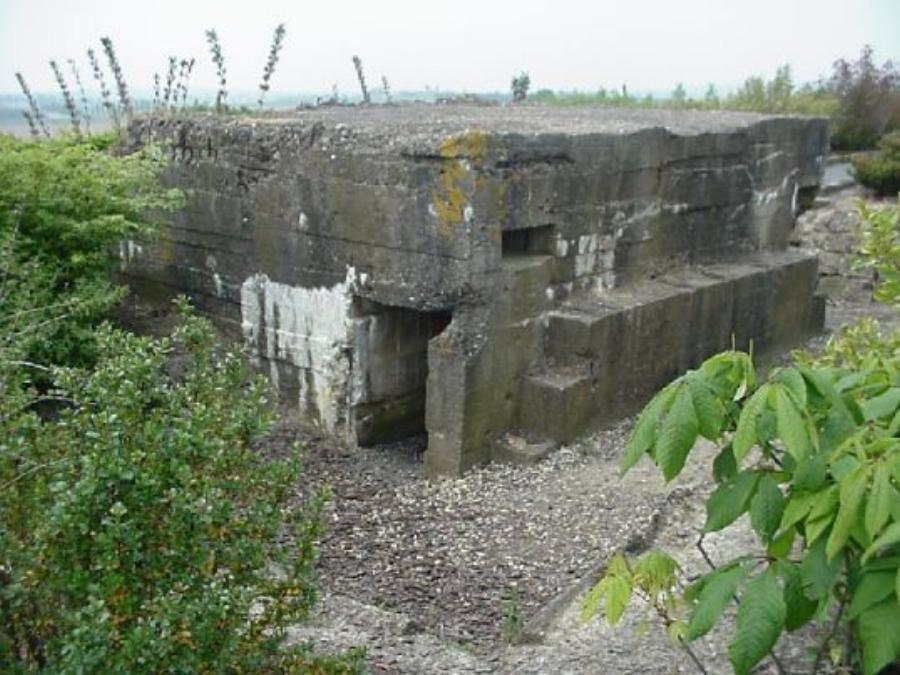 A preserved German pillbox on Messines Ridge.