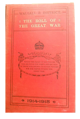 "Photograph of the book cover of ""The Roll of the Great War"""