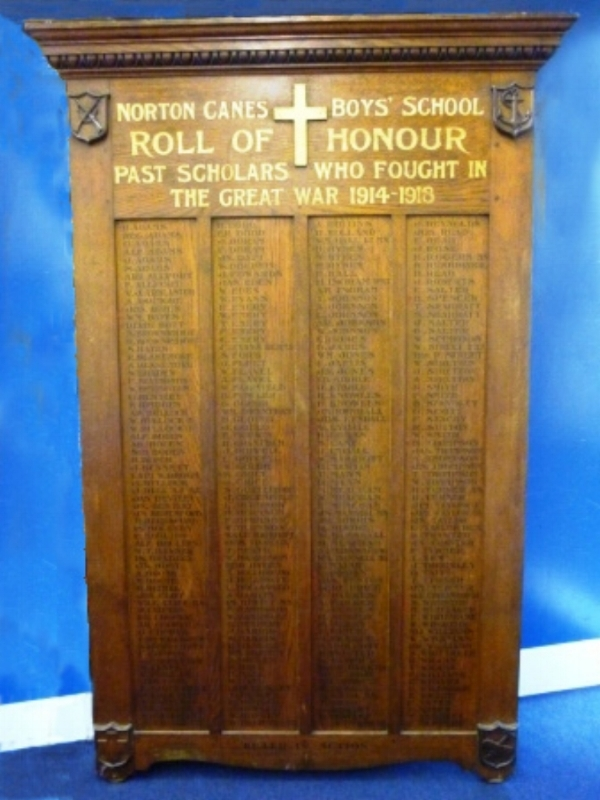 Photograph of Norton Canes Boys' School Roll of Honour