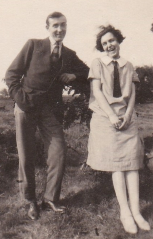 Mary Gertrude 'Gertie' Penton with her younger brother Edward 'Ted' Penton