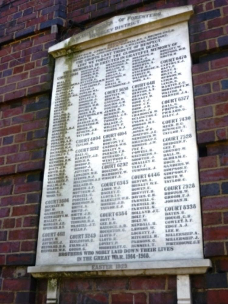 Cannock, Church Street War Memorial