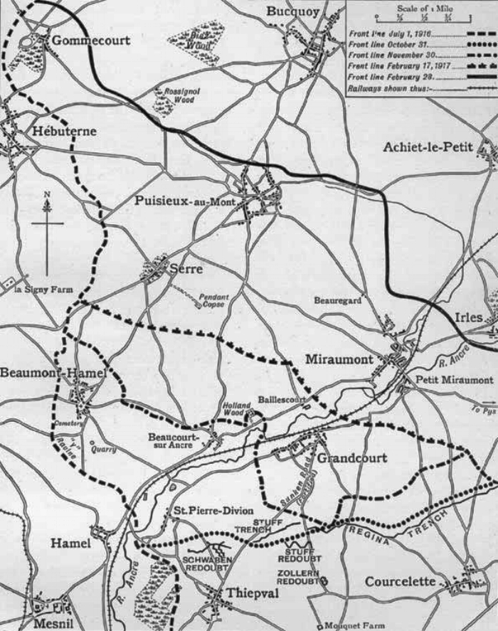 The Battles of the Ancre : British advances from October 1916 to 28 February 1917