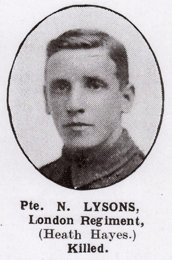 Photograph of Noah John Lysons from the Walsall Pioneer & District News