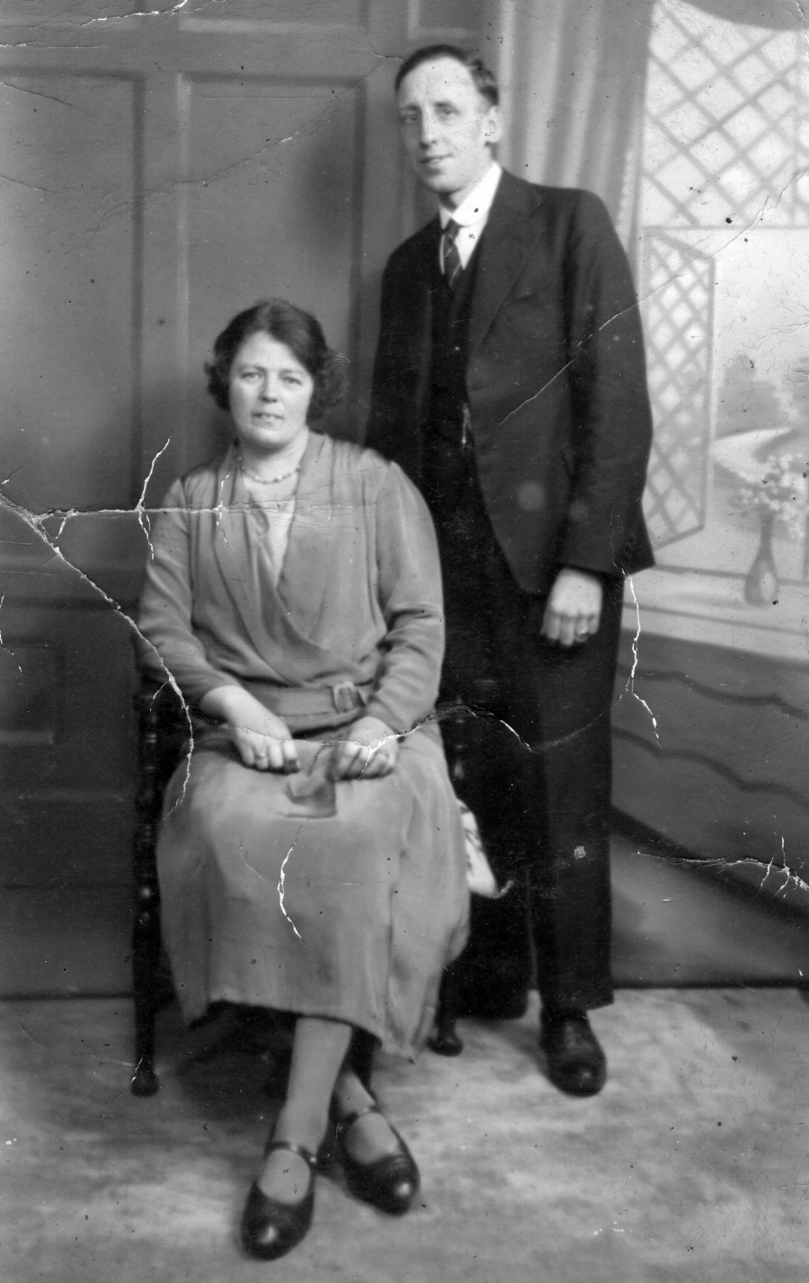 Photograph of Noah's brother Francis (Frank) Lysons and his wife Alice Harrison