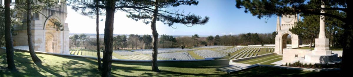 Photograph of Étaples Military Cemetery in Pas de Calais, France