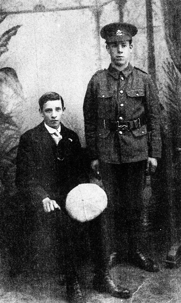 Photograph of Noah John Lysons and Nonnie Lysons Pritchard (standing)