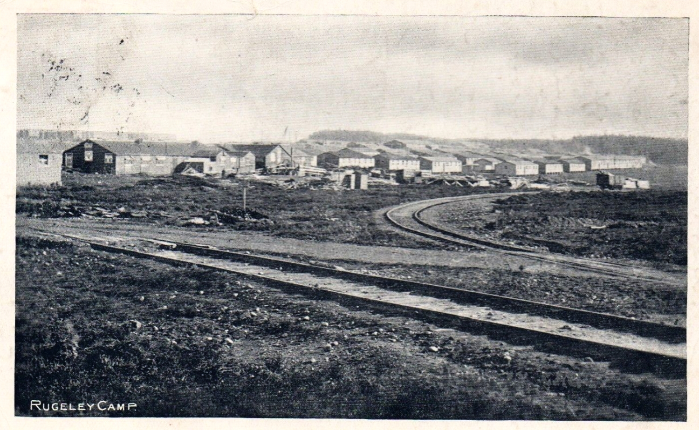 World War 1 postcard of Rugeley Camp