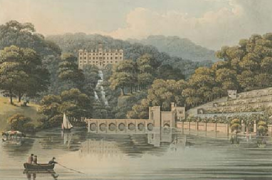 Beaudesert Hall and Park in 1814